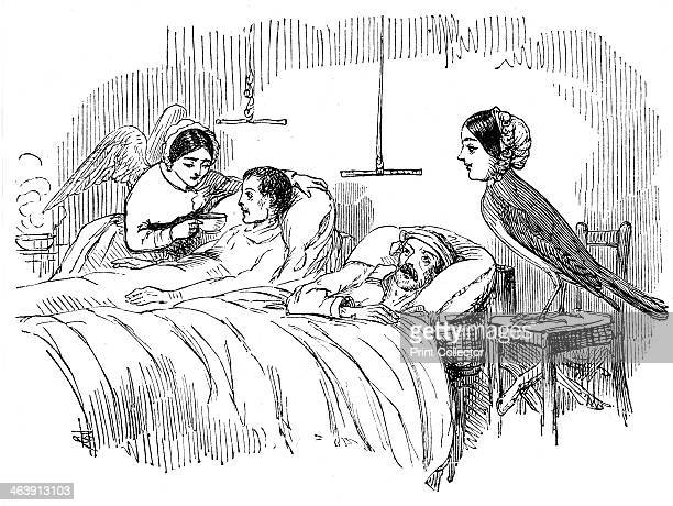 Florence Nightingale watching a nurse at work 1854 In 1854 during the Crimean War Sidney Herbert Secretary of State for War appointed the English...