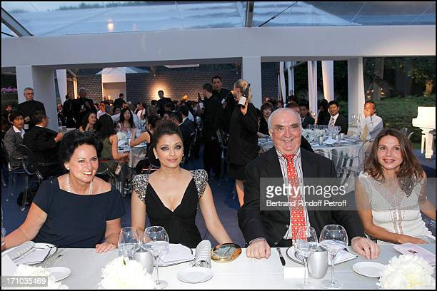 Florence Ollivier Lamarque Aishwarya Rai Walter Von Kanel Victoria Abril at Charity Dinner Sponsored By Longines Elegance Is An Attitude In Benefit...