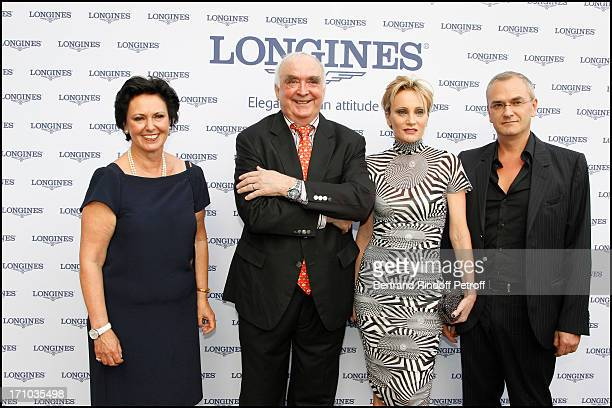 Florence Ollivier Lamarque Walter Von Kanel Patricia Kaas Cyril Prieur at Charity Dinner Sponsored By Longines Elegance Is An Attitude In Benefit Of...