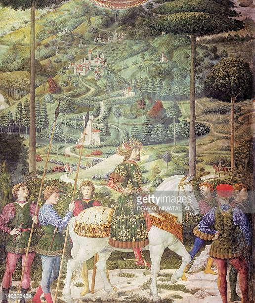 Florence Palazzo MediciRiccardi Procession with Giuliano de' Medici detail from the Procession of the Magi by Benozzo Gozzoli fresco Chapel of...