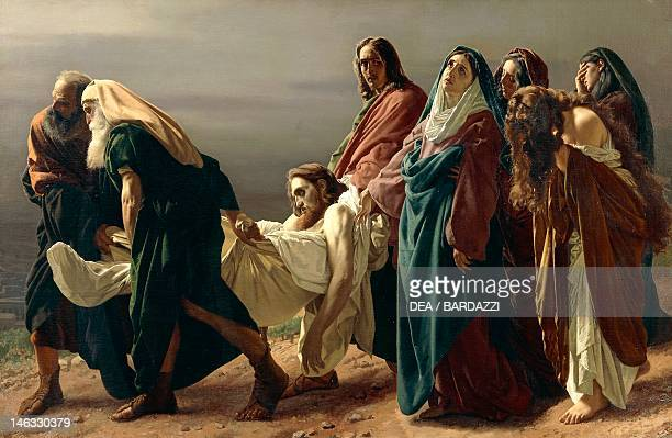 Florence Palazzo Pitti Galleria D'Arte Moderna Carrying Christ to the tomb by Antonio Ciseri oil on canvas 190x273 cm