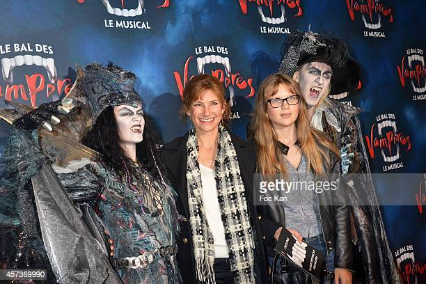 Florence Pernel and daughter attend 'Le Bal Des Vampires' Premiere At Theatre Mogador on October 16 2014 in Paris France