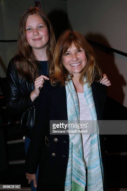 Florence Pernel and her daughter Tina Rotman attend the 'Un Poyo Rojo' Theater Play celebrates its 10th Anniversary at Theatre Antoine on May 17 2018...