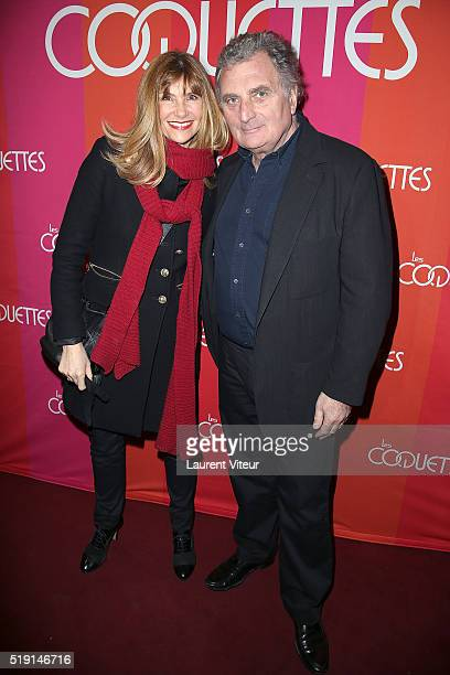 Florence Pernel and Patrick Rotman attend Les Coquettes Paris Premiere At Grand Point Virgule on April 4 2016 in Paris France