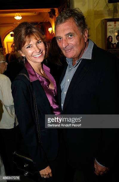 Florence Pernel and Patrick Rotman attend the tribute to Gisele Casadesus celebrating her 100th anniversary at Theatre Edouard VII on September 29...
