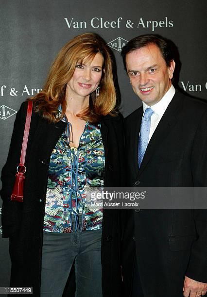 Florence Pernel and Stanislas de Quercize Chairman of Van Cleef Arpels