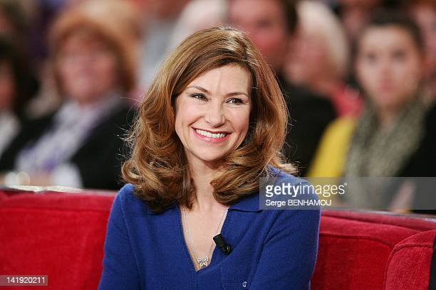 Florence Pernel attends Vivement Dimanche Tv show on February 15 2012 in Paris France