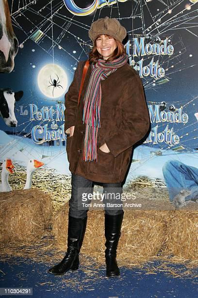 Florence Pernel during Charlotte's Web Paris Premiere Arrivals at Gaumont Marignan Theater in Paris France