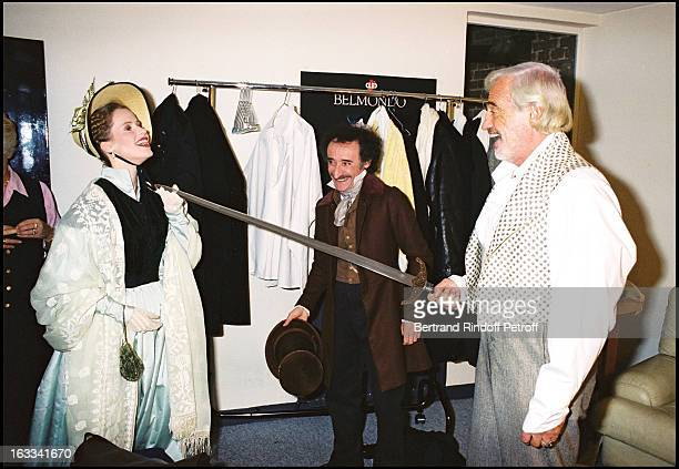 Florence Pernel, Michel Cremades and Jean Paul Belmond at Jean Paul Belmondo At Cirque Royal In Brussels 2000.