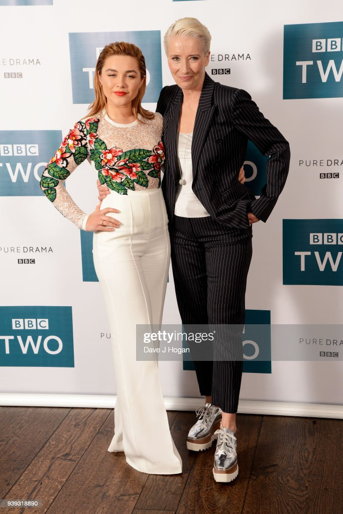 Florence Pugh and Emma Thompson attend a screening of