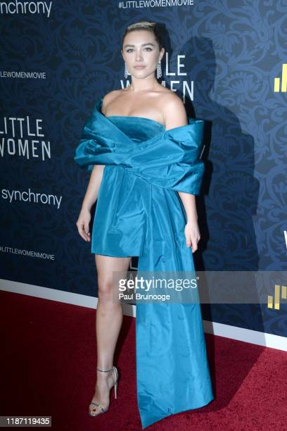 Florence Pugh attends Little Women World Premiere on December 7 2019 at Museum of Modern Art in New York City