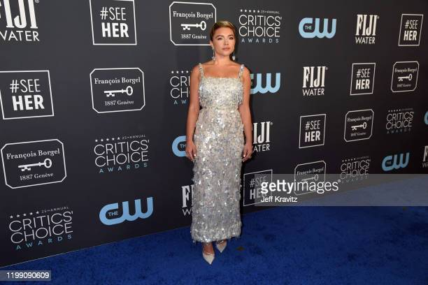 Florence Pugh attends the 25th Annual Critics' Choice Awards at Barker Hangar on January 12 2020 in Santa Monica California