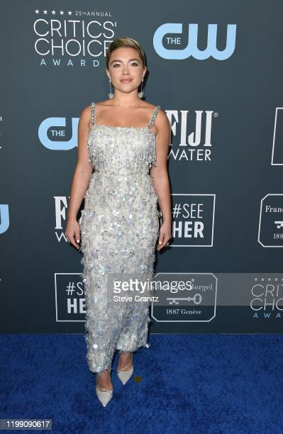 Florence Pugh attends the 25th Annual Critics' Choice Awards at Barker Hangar on January 12, 2020 in Santa Monica, California.