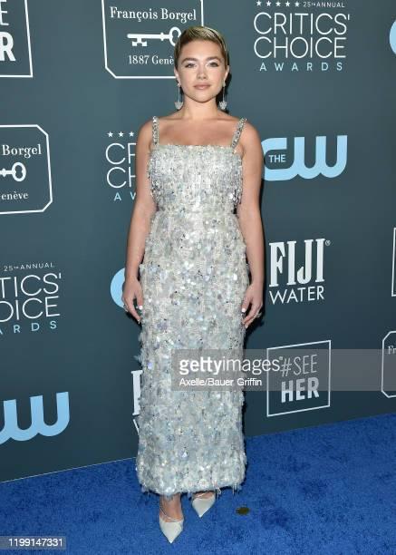 Florence Pugh attends the 25th Annual Critics' Choice Awards at Barker Hangar on January 12, 2020 in Santa Monica, California.