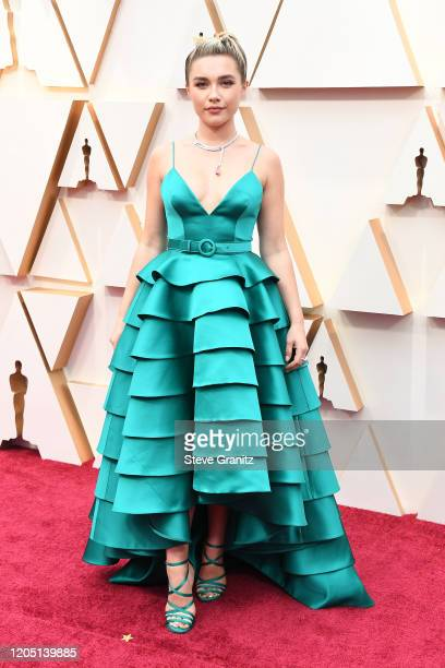Florence Pugh attends the 92nd Annual Academy Awards at Hollywood and Highland on February 09 2020 in Hollywood California