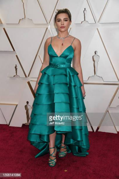 Florence Pugh attends the 92nd Annual Academy Awards at Hollywood and Highland on February 09, 2020 in Hollywood, California.