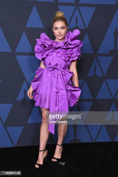 Florence Pugh attends the Academy Of Motion Picture Arts And Sciences' 11th Annual Governors Awards at The Ray Dolby Ballroom at Hollywood & Highland...