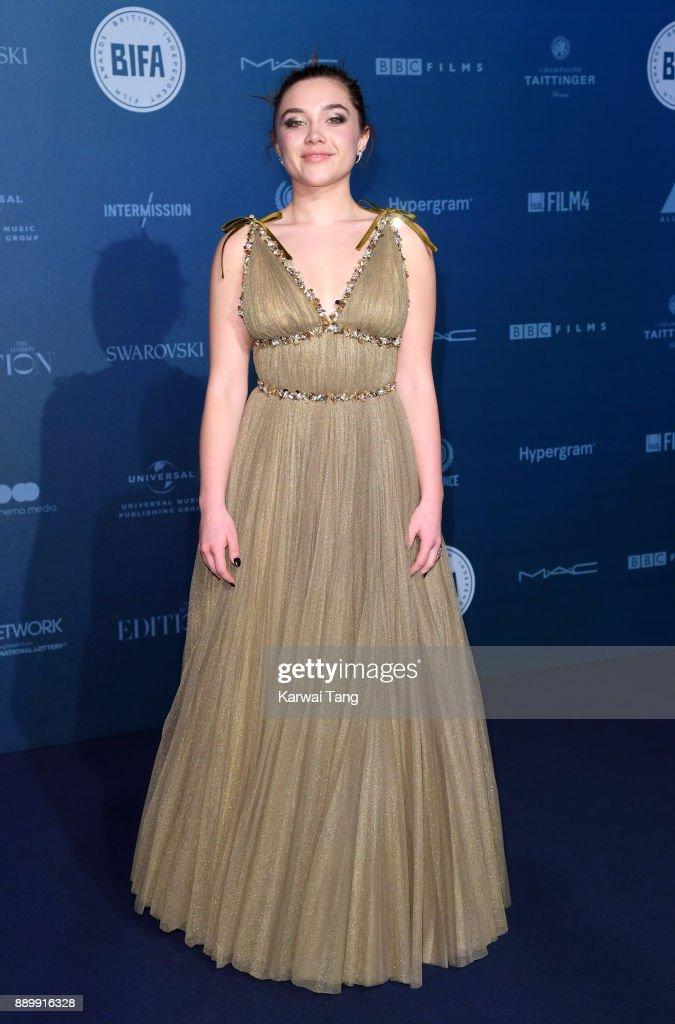 Florence Pugh attends the British Independent Film Awards held at Old Billingsgate on December 10, 2017 in London, England.