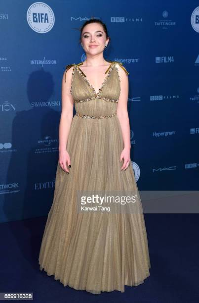 Florence Pugh attends the British Independent Film Awards held at Old Billingsgate on December 10 2017 in London England