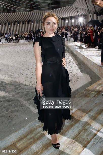 Florence Pugh attends the Christian Dior Couture S/S19 Cruise Collection on May 25 2018 in Chantilly France