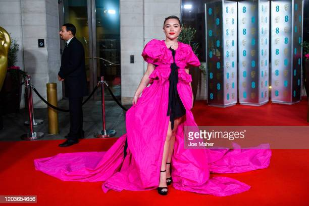 Florence Pugh attends the EE British Academy Film Awards 2020 After Party at The Grosvenor House Hotel on February 02, 2020 in London, England.