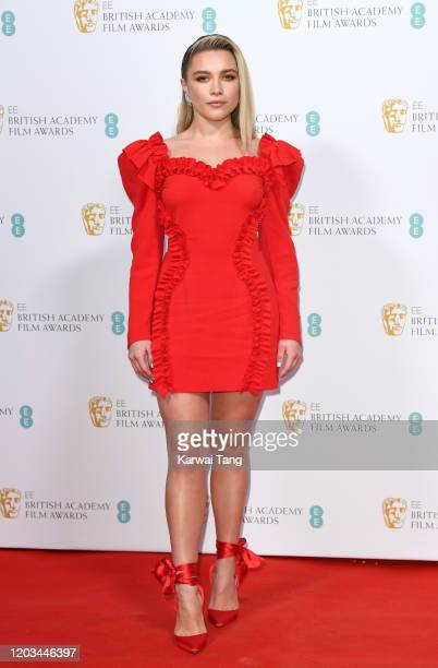 Florence Pugh attends the EE British Academy Film Awards 2020 Nominees' Party at Kensington Palace on February 01, 2020 in London, England.