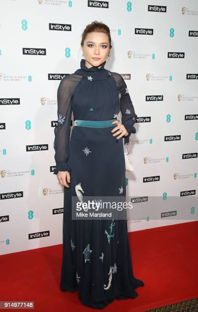 Florence Pugh attends the EE InStyle Party held at Granary Square Brasserie on February 6 2018 in London England