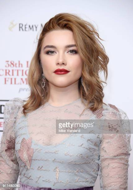 Florence Pugh attends the London Film Critics Circle Awards 2018 at The Mayfair Hotel on January 28, 2018 in London, England.