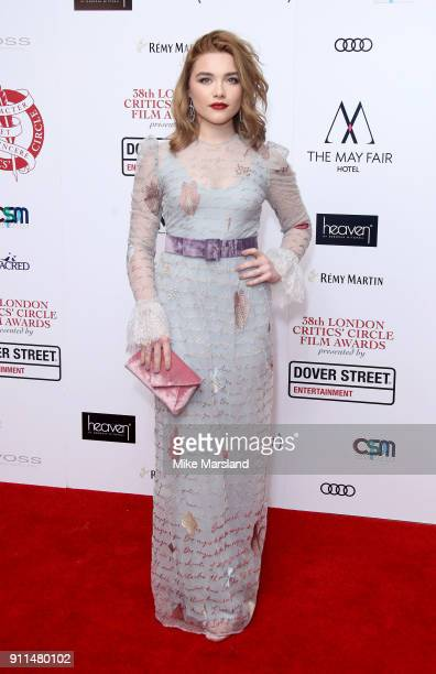Florence Pugh attends the London Film Critics Circle Awards 2018 at The Mayfair Hotel on January 28 2018 in London England