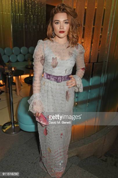 Florence Pugh attends the London Film Critics' Circle Awards 2018 after party at The May Fair Hotel on January 28 2018 in London England