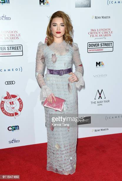 Florence Pugh attends the London Film Critics Circle Awards 2018 at The May Fair Hotel on January 28 2018 in London England