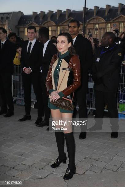 Florence Pugh attends the Louis Vuitton show as part of the Paris Fashion Week Womenswear Fall/Winter 2020/2021 on March 03, 2020 in Paris, France.