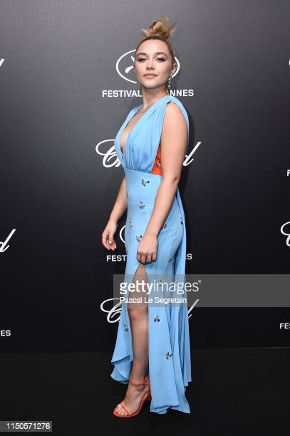 Florence Pugh attends the Official Trophee Chopard Dinner Photocall as part of the 72nd Cannes International Film Festival on May 20 2019 in Cannes...