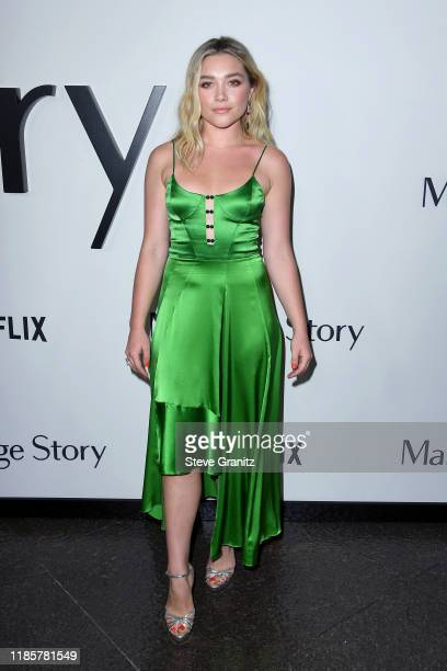 Florence Pugh attends the Premiere of Netflix's Marriage Story at DGA Theater on November 05 2019 in Los Angeles California