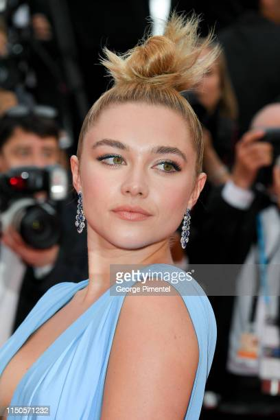 Florence Pugh attends the screening of Le Belle Epoque during the 72nd annual Cannes Film Festival on May 20 2019 in Cannes France
