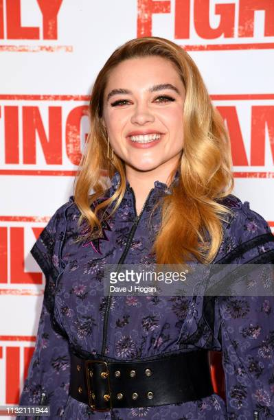 Florence Pugh attends the UK Premiere of Fighting With My Family at BFI Southbank on February 25 2019 in London England