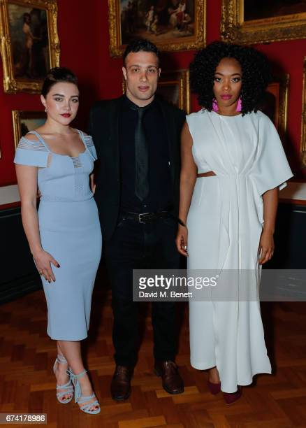 Florence Pugh Cosmo Jarvis and Naomi Ackie attend a special screening of Lady Macbeth at The VA on April 27 2017 in London England