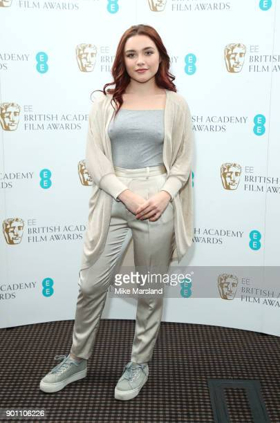 Florence Pugh during the EE Rising Star Nominations announcement held at BAFTA on January 4 2018 in London England