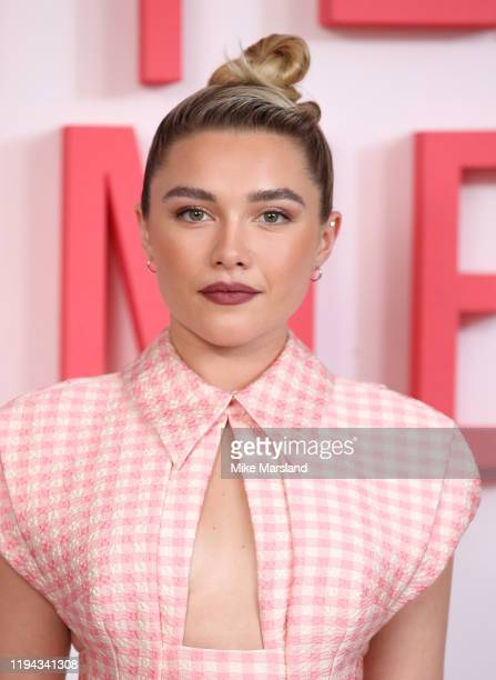 "Florence Pugh during the ""Little Women"" photocall at Soho Hotel on December 16, 2019 in London, England."