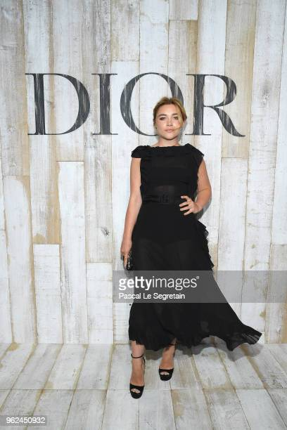 Florence Pugh poses at a photocall during Christian Dior Couture S/S19 Cruise Collection on May 25 2018 in Chantilly France