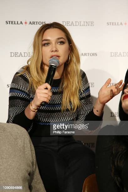 Florence Pugh speaks onstage during the Stella Artois Deadline Sundance Series at Stella's Film Lounge A Live QA with the filmmakers and cast of...