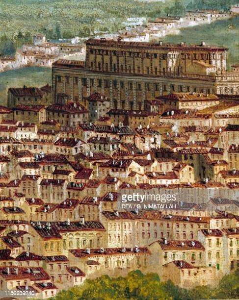 Florence seen from Bellosguardo detail of Palazzo Pitti 1850 ca by Thomas Smith oil on canvas