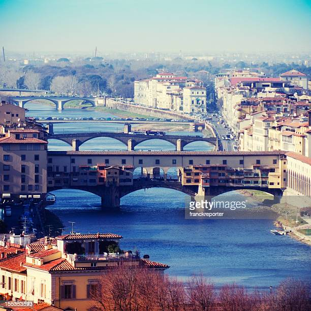 Florence skyline and Arno river