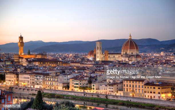 florence skyline - florence italy stock pictures, royalty-free photos & images