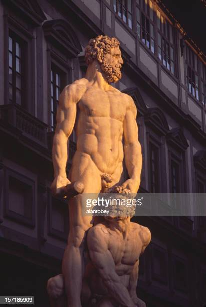 Florence: Statue of Hercules Killing Cacas, Dramatic Lighting