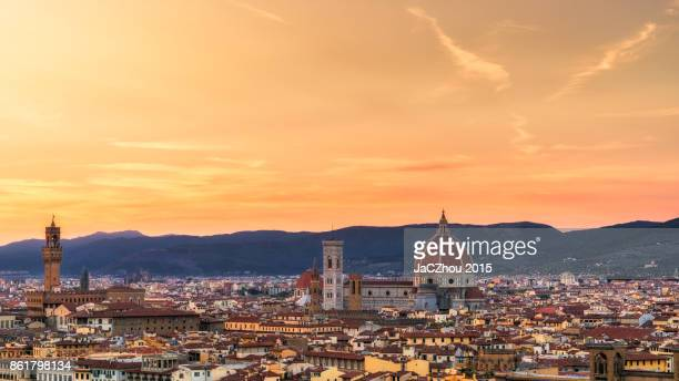 florence sunset - florence italy stock pictures, royalty-free photos & images