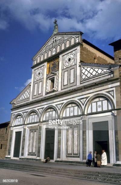 Florence . The facade of San Miniato al Monte church. 1989.