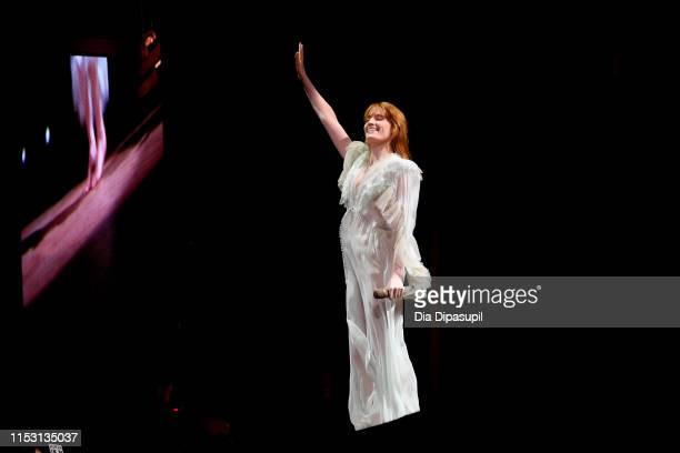 Florence + the Machine performs at the 2019 Governors Ball Festival at Randall's Island on June 01, 2019 in New York City.