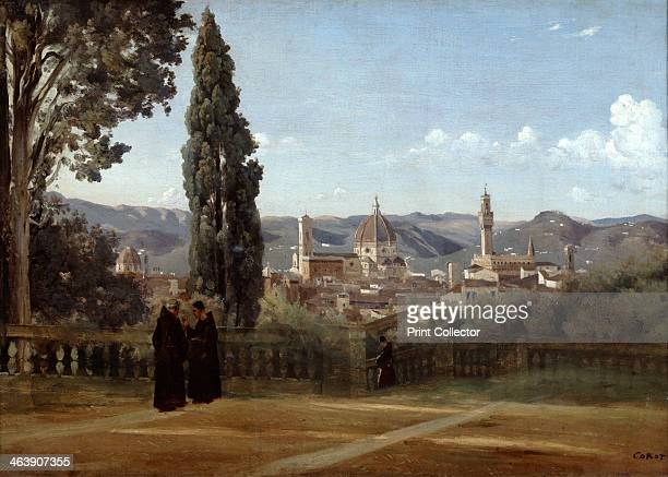 'Florence View from the Boboli Gardens' 18351840 From the Musee du Louvre Paris