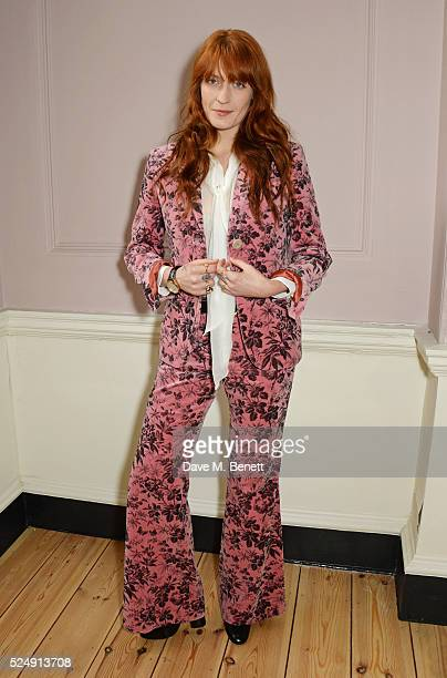 Florence Welch 2016 Gucci Timepieces and Jewelry brand ambassador at Somerset House on April 27 2016 in London England